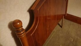 Antique style wooden headboard