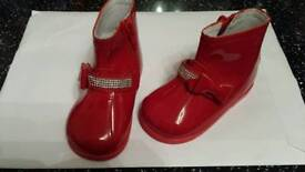 Brand New Red Patent /Leather baby boots