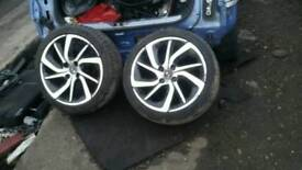 Citroën ds3 17 inch alloy wheels with tyres 205 45 17