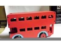 Wooden Toy Bus with little wooden figures