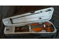 Electric / Acoustic Violin with Case and Rosin