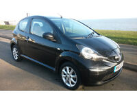 TOYOTA AYGO BLACK 1.0 VVT-i ***62,000 MILES***£30 PER YEAR ROAD TAX***EXCELLENT CONDITION***