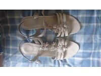 Ladies size 7 small wedge sandals