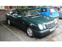 £585 MERCEDES E220 CDI 1999 - NEW MOT 12 MONTHS + 4 ALLOYS WITH GOOD TYRES