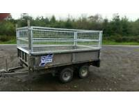 8 X 5 ifor Williams trailer dropsides high mesh sides removable
