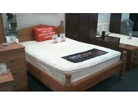 Lovely wooden double pine bedframe - British Heart Foundation