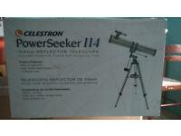 Celestron Powerseeker 114 reflector telescope
