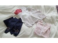 Baby Girl vests and clothes 3-6 months