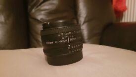 Nikon Nikkor AF 50mm f/1.8 Prime Lens DSLR