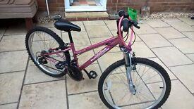 Girls bike 9-12 year olds. Apollo Vivid (Pink)