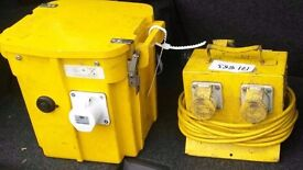 110 V Portable Battery and 4 way Lead