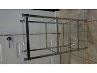 shelf chrome and glass stand 3 shelves new