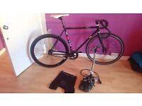 Fuji fixed gear, fixie track road bike custom