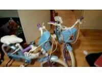 2 16 in frozen girls bikes nearly new £50 each