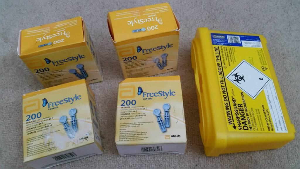 Bundle joblot heath care diabetes aid aids free style lancets