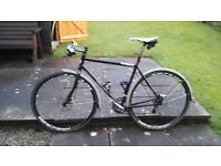 planet x kaffenback steel road bike. Size large