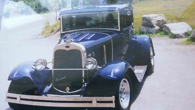 "1930 Ford Model A Mercedes Blue / Chrome 1930 Model A Ford Streetrod ( 5 Window Coupe )  "" REDUCED REDUCED """