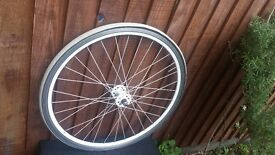 BLB 700c FRONT WHEEL FOR SINGLE SPEED WITH VITTORIA TYRE