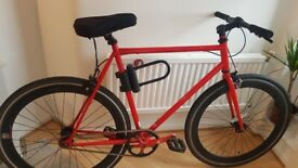 Single speed fixed gear Fixie bike road bicycle