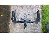 cheap bargain road bike handlebars, brake levers and ajustable stem