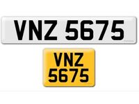 VNZ 5675 private cherished personalised personal registration plate number