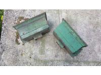 2x Cast Iron Rain Hoppers / interesting planters