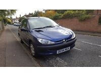 Peugeot 206, 97,500 miles. Selling cheap due to undiagnosed noise from wheel, still drives fine.