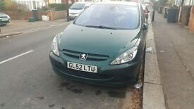 PEUGEOT 307 2003 MODEL 2.0L DIESEL MANUAL AC WORKING