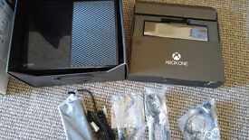 Xbox one - 500gb, wireless controller, kinect, 2 sealed games, all cables - boxed