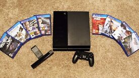Play station 4 500gb with games