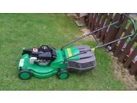 "Performance petrol push lawnmower 16""cut"