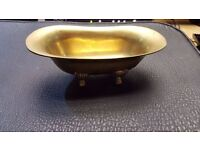 Tiny Brass Claw-Foot Tub in Good Condition