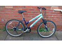 Ladies Apollo corona mountain bike 16 inch frame, good working condition and ready to ride