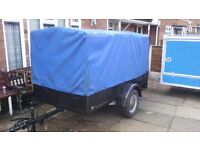 Single axle braked trailer & cover