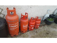 Empty propane gas bottles for sale