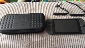 Nintedo Switch (Grey) With Zelda BOTW and Mario Kart 8