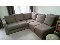 4/5 person corner sofa, w/ large footstool. **Fits through any door** Chase/Double Bed.