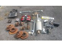 selection of spares for a Mitsubishi Pajero