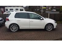 "Golf gt tdi White 2.0 140 bhp 5 door (immaculate) 2010 you must view this one 18"" vancouver alloys ."