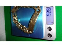 GOLD Bracelet 9 ct very heavy 92 .5grams not used any more
