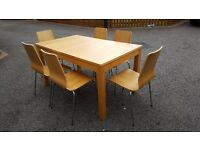 Ikea Bjursta Extending Dining Table 150cm-220cm & 6 Vilmar Chairs FREE DELIVERY (02854)