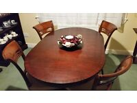 Stylish table and 4 chairs
