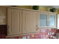 Used beech effect kitchen units/cabinets