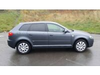 ****AUDI A3 2.0 TDI 2007 SPORTBACK F/S/H 2 LADY OWNERS FROM NEW MOT & TAX 2018 £1795 ono p/x welcome