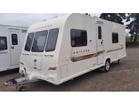 Bailey Unicorn Valencia. Touring Caravan - Used (2012) Fixed Side Bed. 4 Berth