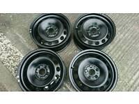 "Vw set of four steel wheels 16"" new"