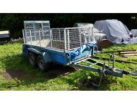 Plant trailer mini digger gardening lawn etc cage