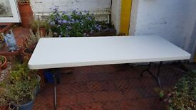 Hard wearing foldable table suitable for inside or outside 75cm x 183cm