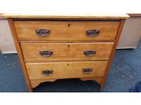 Bedroom/Kitchen farmhouse Old pine chest of drawers