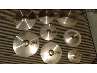paiste pst 5 cymbal set with hard case